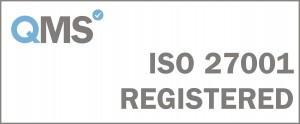ISO 27001 Registered - White